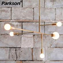 купить Nordic Gold Modern cross Style LED Pendant lamp lights bedroom foyer dinning room kitchen modern Pendant lighting hanging lamp дешево