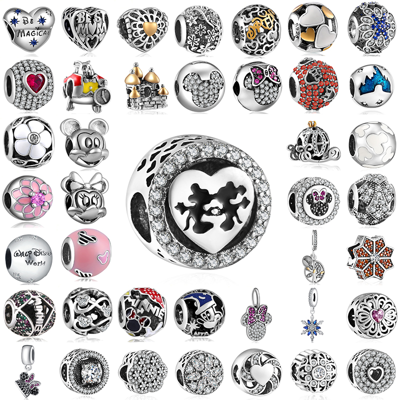 Diy Jewelry Making Women Fit Pandora Charms Beads Sterling Silver 925 Original Bracelet Beads for Jewelry Making GW195-297(China)