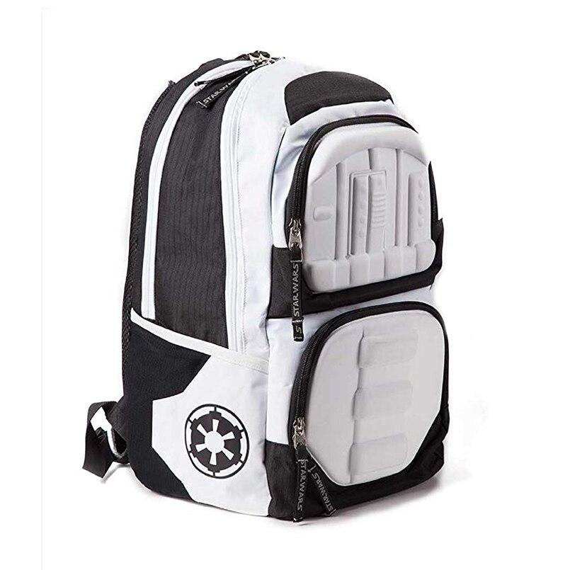 Star Wars sac à dos Stormtrooper 3D moulé officiel blanc sac à dos ordinateur portable hommes Double sac à bandoulière