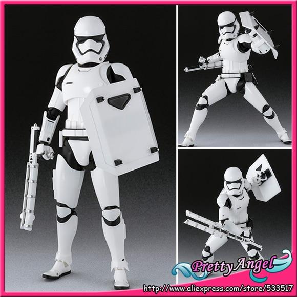 PrettyAngel - Genuine Bandai S.H.Figuarts Star Wars: The Force Awakens First Order Stormtrooper Shield & Baton Set Action Figure dark journey star wars the new jedi order