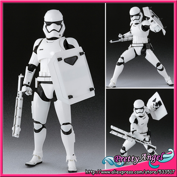 PrettyAngel - Genuine Bandai S.H.Figuarts : The Force Awakens First Order Stormtrooper Shield & Baton Set Action Figure
