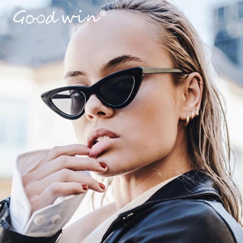 aa49c3e3693a GOOD WIN Mirrored Sexy Red Cat eye Sunglasses Supreme Women Small Sun  Glasses Hot 2018 Trendy Vintage 90s Style Lentes de Femme -in Sunglasses  from Apparel ...