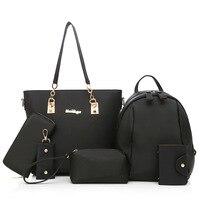6pcs Women Bag Set Handbags Crossbody Bags For Women Oxford Shoulder Messenger Bag Casual Totes Composite Bag Blue Black