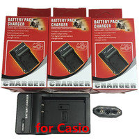 NP 90 CNP 90 NP 90 Ithium Batteries Charger For CASIO Exilim Zoom EX H10 EX