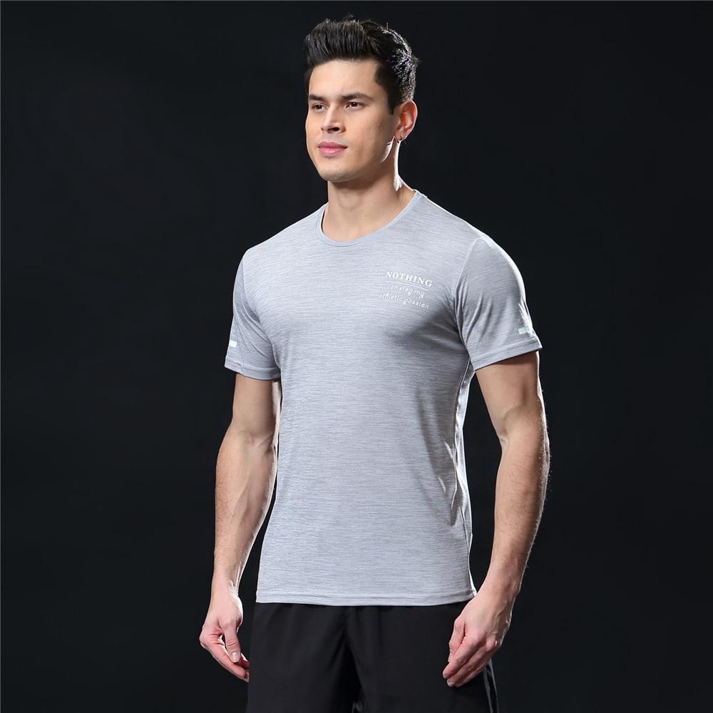 GANYANR Running T Shirt Men Basketball Tennis Sportswear Tee Sport Fitness Gym Jogging Tops Slim Fit quick dry Exercise Training 36