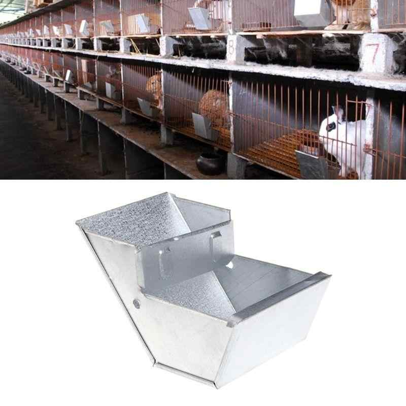 HOT SALE! Rabbit Hutch Trough Feeder Drinker Food Bowl Equipment Tool for Farming Animals Feeding & Watering Supplies