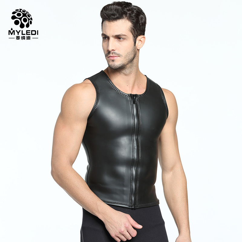 2MM smooth Skin CR diving vest extra Elastic Diving Suit Submersible Size s xxl