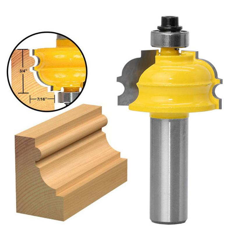 1Pc 1/2 Inch Shank Woodworking Cutter Router Bit Shaker Rail Stile Milling Cutter Drill Tenon Tool For Wood Panel Cabinet Door best price 1 2 inch hss milling bits shank round nose cove core box router bit shaker cutter tools for woodworking