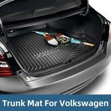Cargo Trunk Liner Floor Mat Rear Tray For Volkswagen MAGOTAN B7 B8 GOLF MK7 BORA MK4 POLO TOURAN L TOUAREG TIGUAN