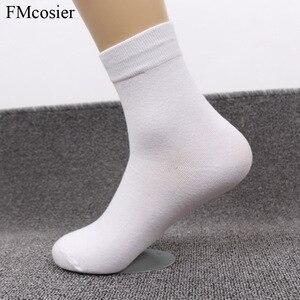 Image 2 - 8 пар размера плюс мужское хлопковое мягкое платье деловые однотонные осенние носки зимние теплые черные белые 48 44 45 46 47