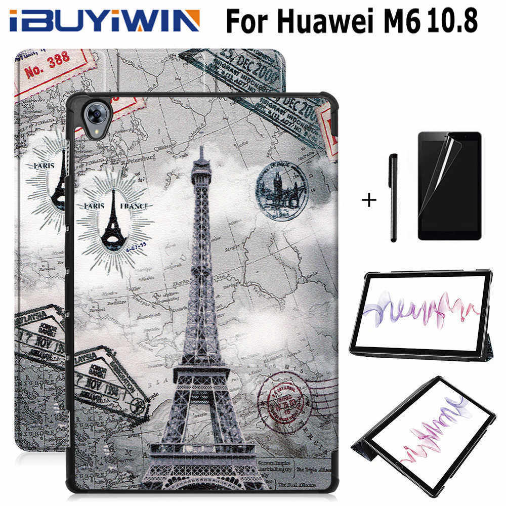 IBuyiWin Magnetic Smart PU Leather Case For Huawei MediaPad M6 10.8 Inch Tablet Funda Cover For Huawei M6 Pro 10.8
