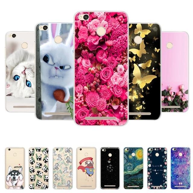 Phone Cases For Xiaomi Redmi 3 Pro Redmi 3s Cover Bumper 3D Silicon Back Covers for Xiaomi Redmi 3 Pro Case Redmi 3 S Cover Case
