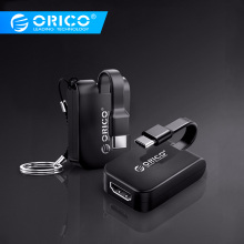 ORICO Type C Converter USB C Type To HDMI VGA DP Mini DP Adapter 5CM Mini Type C HUB For MacBook/HUAWEI P10 20/Samsung цена и фото