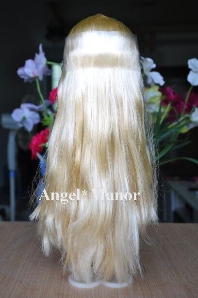 scalp with hair for  RBL Blyth,  not doll,  light gold  long hair,   , For Girl's Gift   TP012