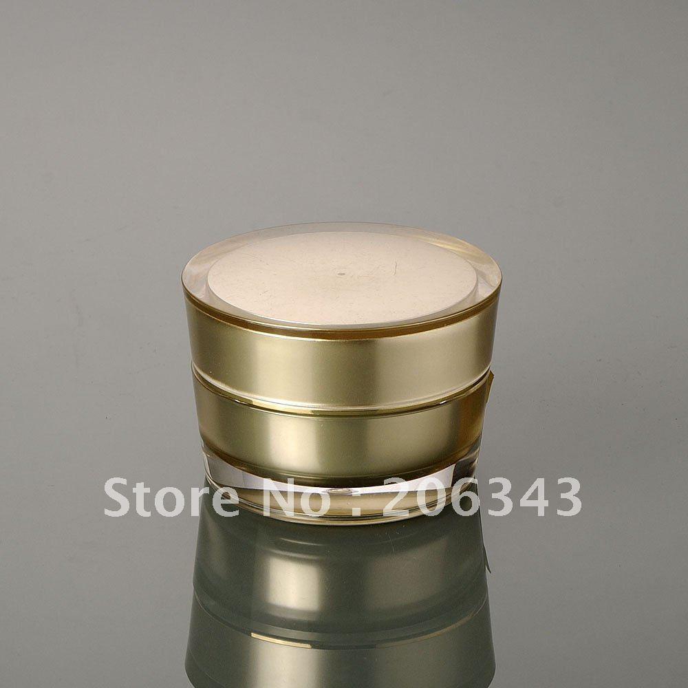 15G zlati akrilni stožec v obliki stožca v obliki stožca, kozmetični kozarec