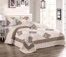 Comfortable high-grade cotton bedding quilted bed cover 220 * 240 double bed European and American style washable printing bed c american wood bed bed european classical american country style furniture double bed 1 8 m 10314
