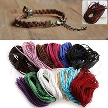10Pc Suede Flat Leather Rope Cord Wire Lace String Necklace Jewelry DIY Craft 1M Threads