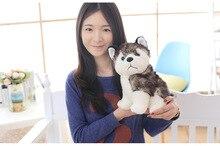 lovely plush dog toy creative stuffed husky dog doll gift about 30cm