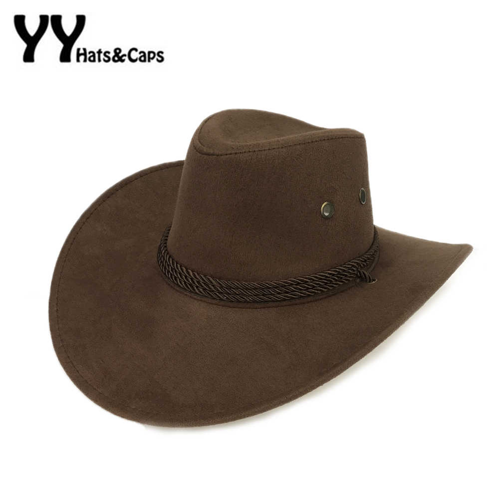 ab96a4596 Cool Western Cowboy Hats Men Sun Visor Cap Women Travel Performance Western  Hats Chapeu Cowboy 9 colors YY17059