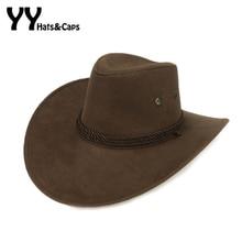 Legal cowboy ocidental chapéus homens cap pala de sol mulheres viajar  desempenho chapeu de cowboy ocidental 74b1866ec50