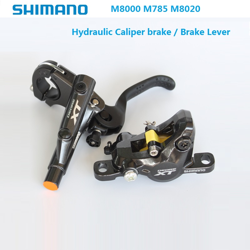 цена SHIMANO Deore XT M8000 M785 M8020 Caliper Brake Brake Lever MTB Mountain Bike Oil Brake Hydraulic Disc Brake Accessories