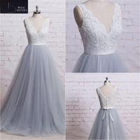 BRITNRY New Arrival Plus Size Wedding Dress V Neck Lace Tulle Wedding Gown A Line Lace