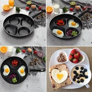 Image 5 - 4 Lỗ Trứng Ốp La Chảo Cho Trứng Hàm Tỳ Hưu Máy Làm Chảo Lòng Sáng Tạo Không Dính Không Dầu Khói ăn Sáng Nướng Chảo Nồi
