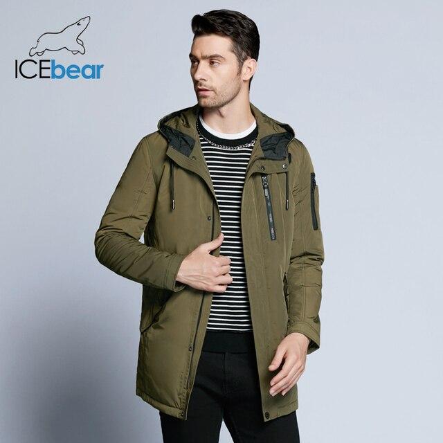 ICEbear 2019 Новинка весенняя мужская короткая куртка тёплое модное пальто из качественной ткани MWC18228D