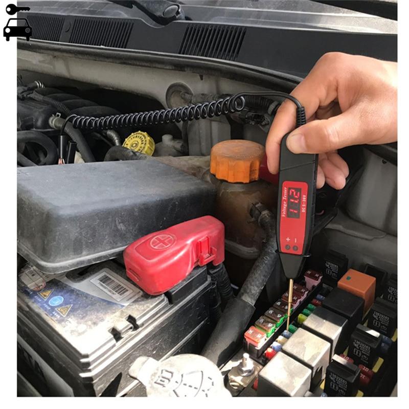 Universal Tester Auto Voltage Meter Power Probe Lamp 5-48V LCD Digital  Automotive Car Circuit