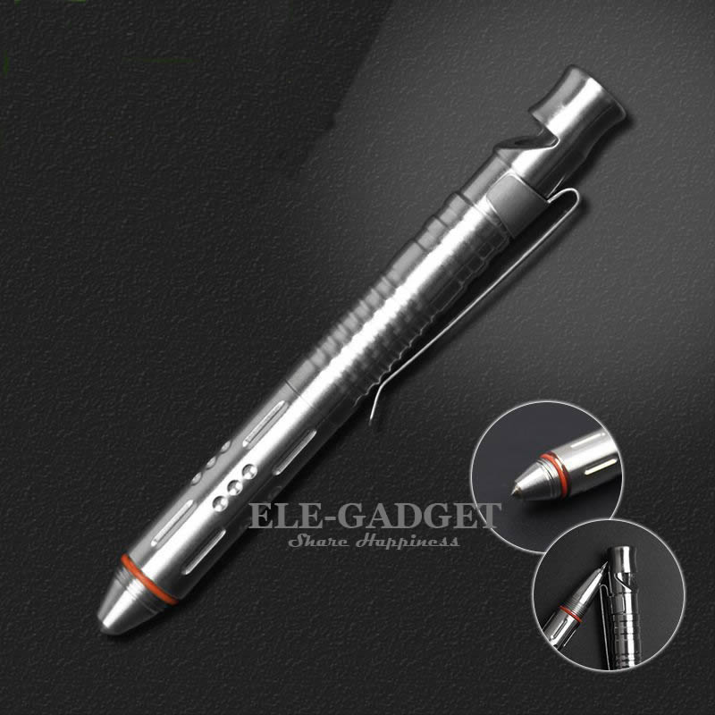 High Quality Stainless Steel Tactical Pen With Emergency Whistle Self-Defense Supplies Glass Breaker EDC Tool Gift Box new titanium alloy tactical pen self defense weapons glass breaker tungsten carbide head edc tool emergency kit gift ss