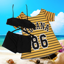 Swimsuit Women's Three-piece Slim Bikini Skirt Sexy Small Chest Gathered Cover Belly Beach Swimsuit Large Size Loose