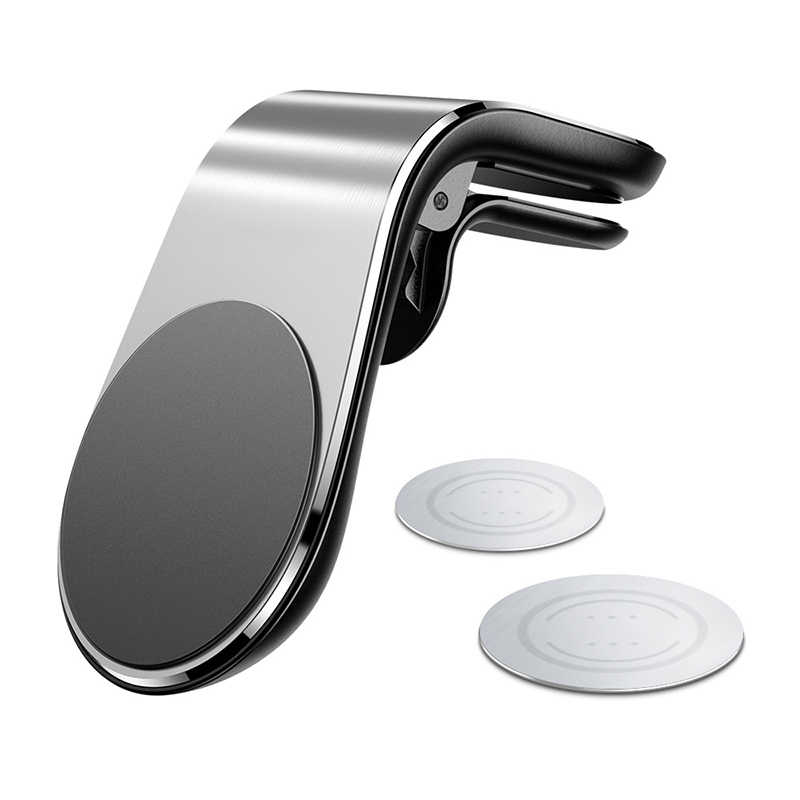 Fivetech Clip soporte magnético de teléfono de coche Salida de coche soporte magnético para teléfono coches conveniente soporte de Metal para teléfono soporte de pinza compacta