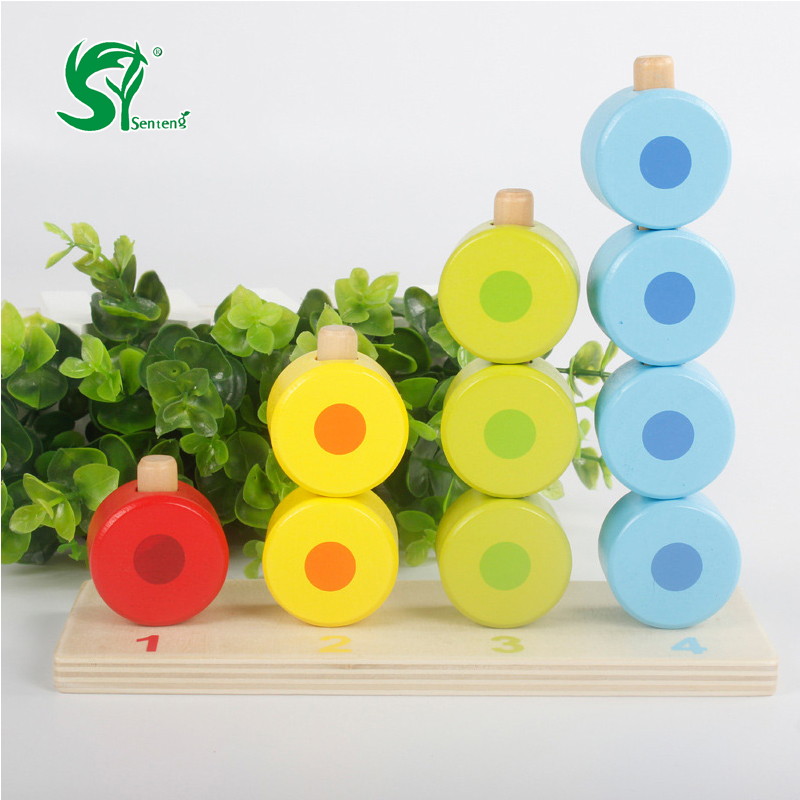 Montessori Educational 5 Level Clouds Computation Beads Wooden Toys For Children Math Baby Give your birthday present Kids toys