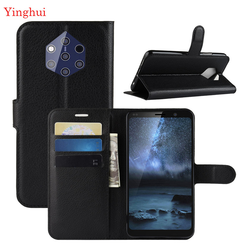 For Nokia 9 PureView Case Flip Leather Phone Case For Nokia 9 PureView High Quality Wallet Leather Stand Cover Filp Cases