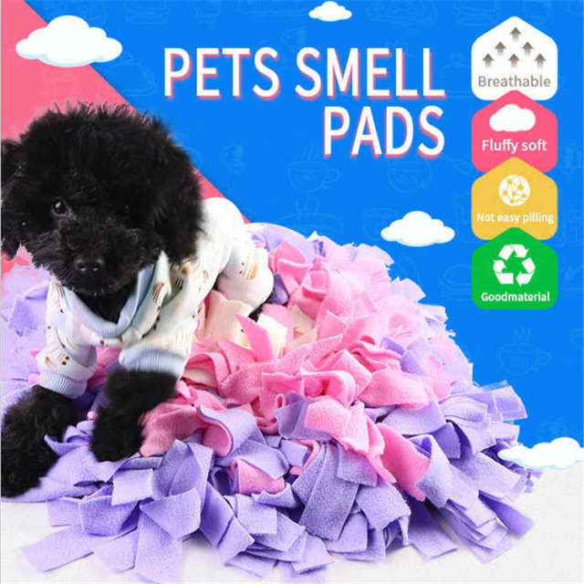 Pet Sniffing Pad Play Cushion Dog Consume Energy Slow Eating Puzzle Smelling Spliced Olfactory Training