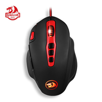Redragon M805 HYDRA Gaming Mouse Laser Wired Mice Colorful LED 14400 DPI Omron Switches 10 Programmable Buttons for PC Gamer LOL