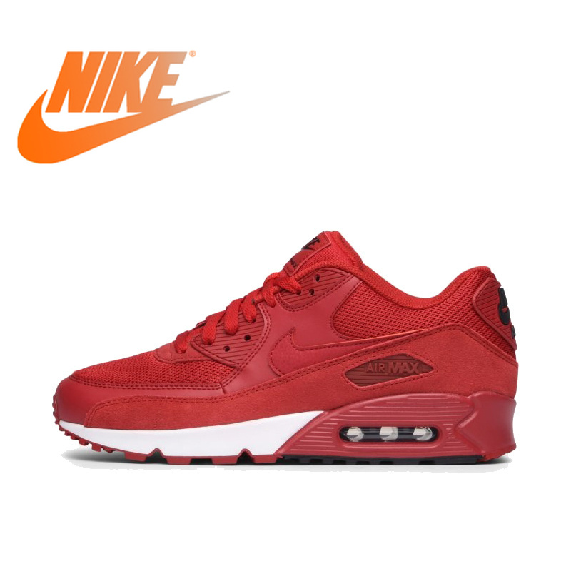 NIKE AIR MAX 90 Original authentique hommes chaussures de course essentielles Sport baskets de plein AIR confortable Durable respirant 537384