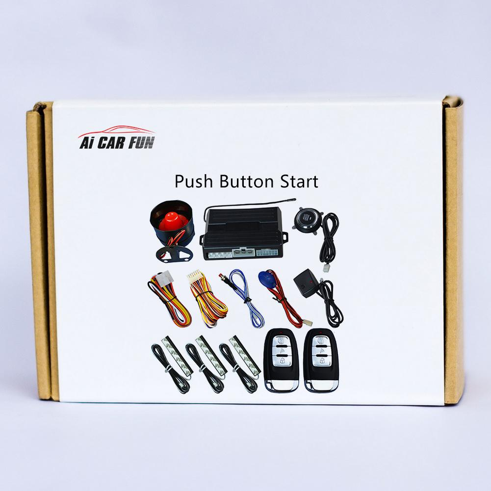 Image 5 - 1pcs Car Keyless One Button Start Remote Control System Auto Anti theft Alarm Remote Control System Automobile Car Accessorie-in Starter Parts from Automobiles & Motorcycles