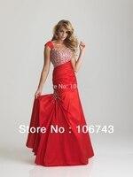 Бесплатная доставка 2018 новый стиль сексуальные невесты vestidos на заказ размер/цвет кристалл красный/синий/желтый Длинные Выпускные платья по