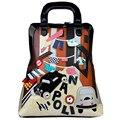 ЦЯНЬ YI ЮАНЕЙ пакет Бренда Мода Рюкзаки PU Softback Женщины Лоскутное Двойной плечо Вышивка Известный дизайнер мешок