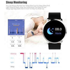Image 5 - Q8/Q8 בתוספת חכם שעון OLED צבע מסך חכם אלקטרוניקה Smartwatch אופנה כושר גשש שעון קצב לב Bluetooth pk l8