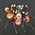 Atacado 11 PÇS/LOTE Popular Estilo de Moda Novos Homens Lapela Pin Broche de Flor para o Terno Do Casamento Broches Pin Flor de Lapela Floral