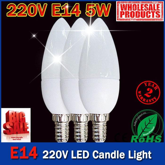 5 Вт SMD 2835 e14 лампы светодиодные трубки теплый белый холодный белый e 14 светодиодные свечи 220 В LED лампа бесплатная доставка - 5