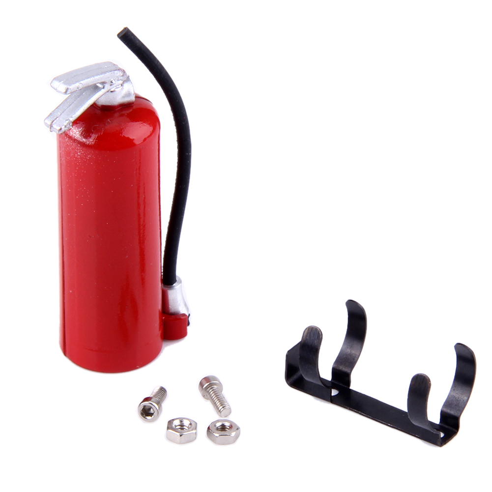 RC Crawler Car 1:10 Accessories Fire Extinguisher for Axial Wraith SCX10 90046 TAMIYA CC01 RC4WD D90 D110 RC Truck Car Parts Red rc car axial scx10 radio box parts for 1 10 d90 d110 axial scx10 crawler car