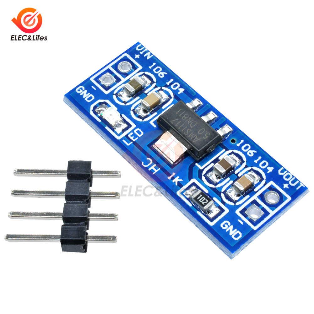 AMS1117 3.3 V 5 V Module d'alimentation Mini carte PCB DC-DC Buck abaisseur module d'alimentation pour Arduino AMS1117-3.3V AMS1117-5V