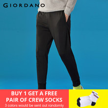 Giordano Men Pants Terry Joggers Men Cotton-Poly Spodnie Meskie Casual Men Trousers Solid Calca Masculina Stylish Jogger Pants(China)