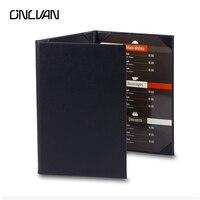 ONLVAN 5 sztuk/partia PU Skóra A4 Menu Restauracji Obejmuje Lista Posiadacze Wina Kawy Lista Folderu Menu 3 Widoki Zaakceptować Dostosowane