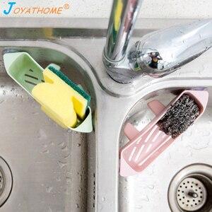Image 2 - Joyathome creativo cocina esponja drenaje Rack tipo ventosa cepillo de hueco fregadero estante organizador para fregadero desagüe