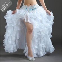 VENDA QUENTE! Senior fio trajes de dança do ventre sexy feminino dança do ventre saia de palco para senhoras saias de dança do ventre