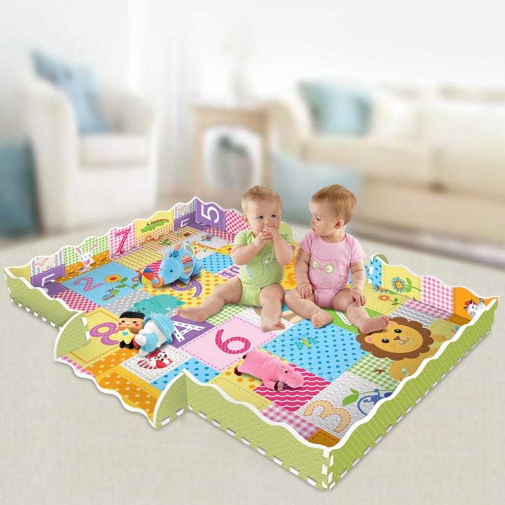 Tapis de motif Animal de bande dessinée tapis de Puzzle en mousse EVA tapis de jeu pour enfants tapis de jeu pour enfants - 3